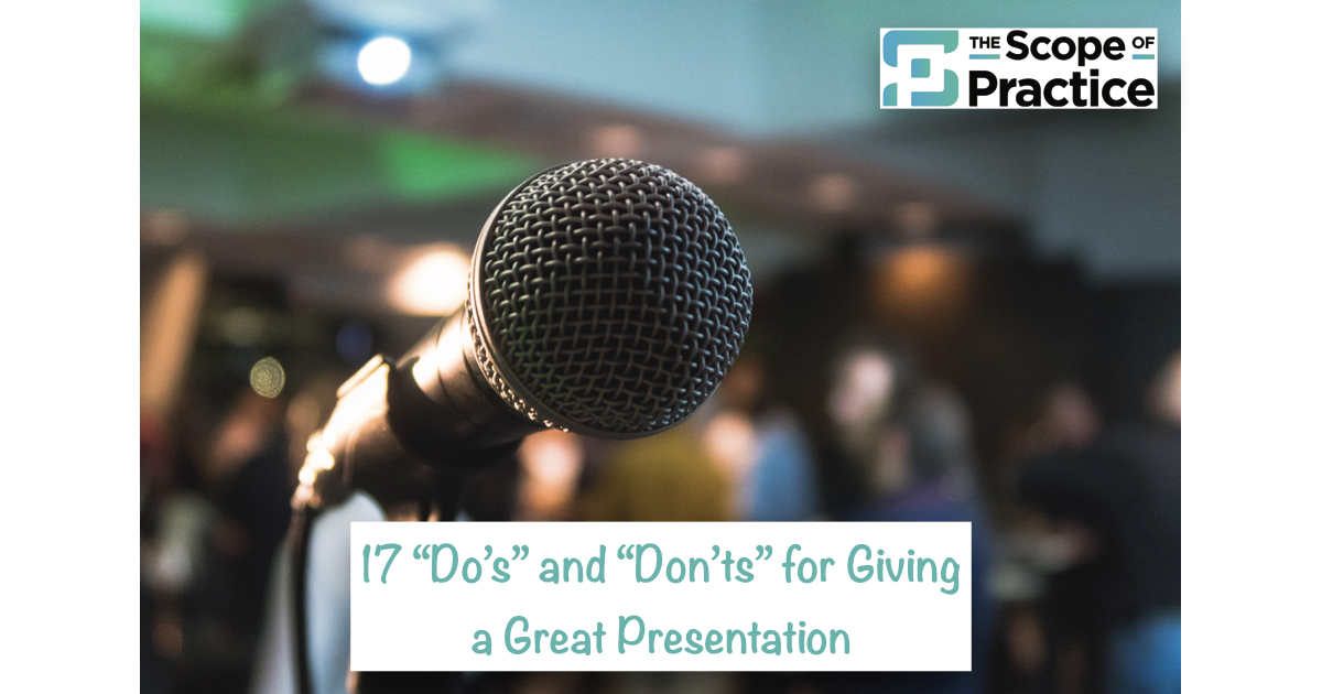 giving a great presentation