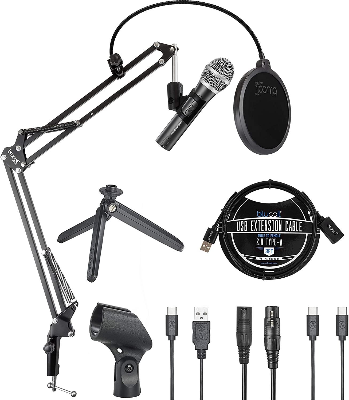 Audiotechnica ATR2100 microphone bundle