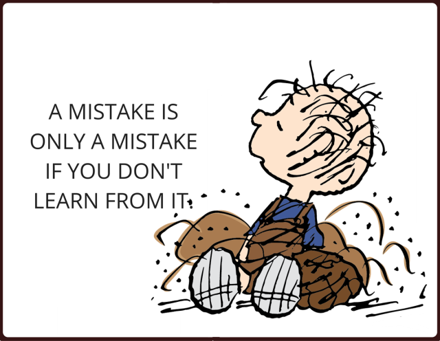 physician leadership lesson - learn from mistakes